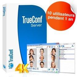 Logiciel de visioconférence TrueConf Server - 10 utilisateurs - 1 an