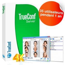 Logiciel de visioconférence TrueConf Server - 35 utilisateurs - 1 an
